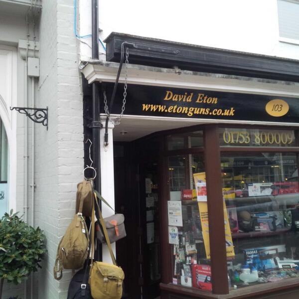 Surely the only reason to have a gun shop in Eton is to call it Eton Rifles? http://t.co/ZDdX3iffTL