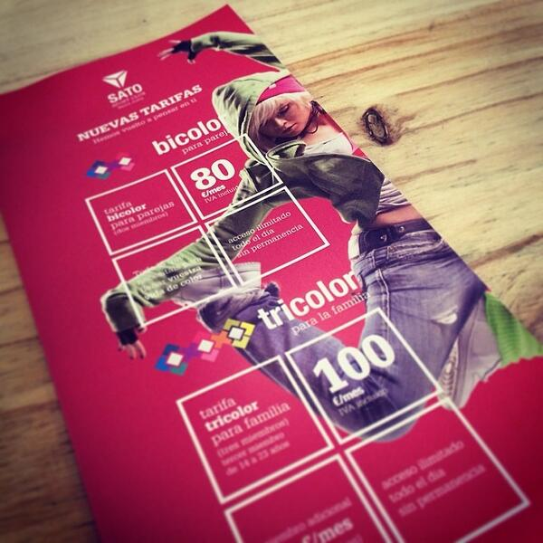 Folleto tarifas Sato Sport Santa Justa #nomad_room #satosport #flier #folleto #booklet #brochere #gym #grahicdesing pic.twitter.com/7EUDpMG8EH