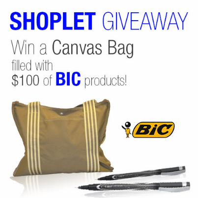 #WIN a bag with $100 of Bic products! RT, Follow & comment on what you love writing about: http://t.co/2QO1LB1KkC http://t.co/C7txCamqdd
