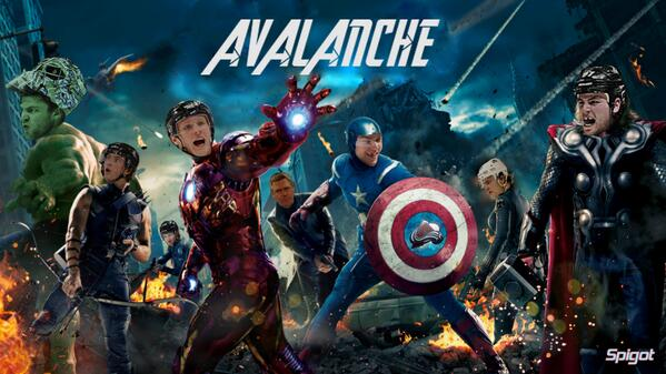 """@JanieP13: @Avalanche #AVengers @GabeLandeskog92 @Ryan_OReilly90 @Mackinnon9 http://t.co/nRT5mOlxyr"" why am I the chick? Lol"