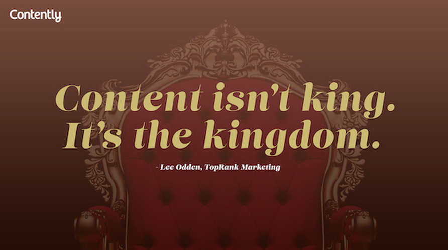Twitter / CaseyKope: Content is not King. It is ...