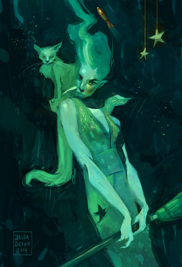 Hidden in the hashtag past, a perfect #spacewitch by: @ZeldaDevon Another Space Witch. #spacewitch http://t.co/kxrz0XYihs