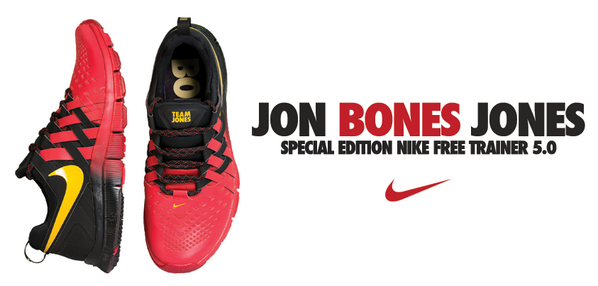 best sneakers 8c09b 5fcd7 PIC  Jon Jones unveils special edition signature Nike shoe, the Free  Trainer 5.0 ...