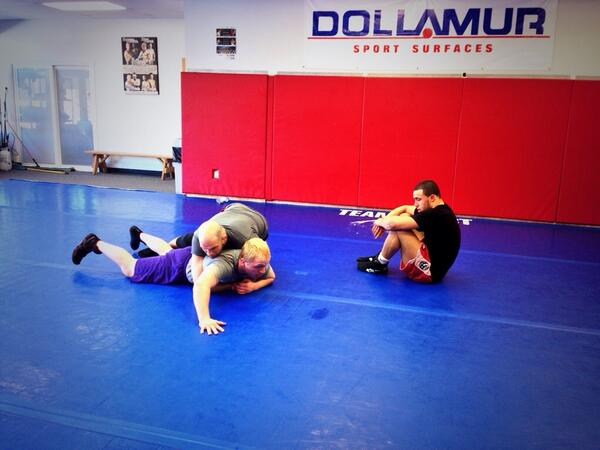 Making the boys #greco tough @mattlindland @LeeWildes @TWilliamsMMA @USAWrestling  #wrestling #grecoroman http://t.co/BsyIaQ6XOU