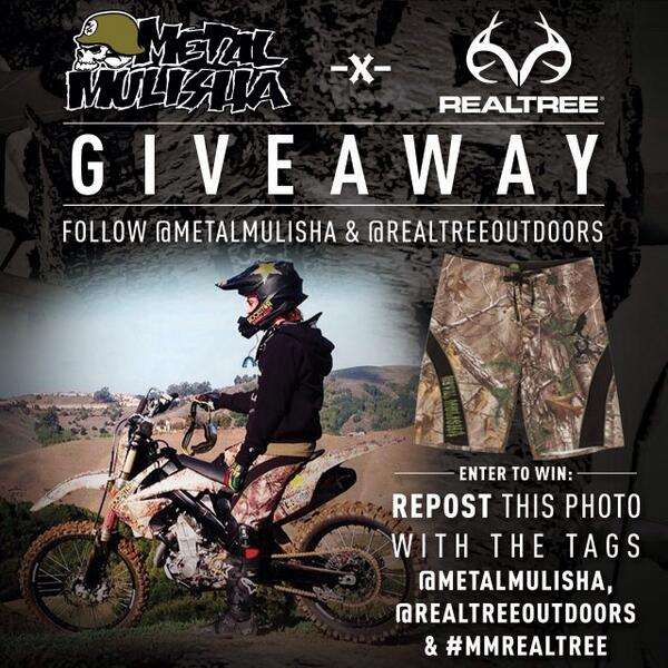 Follow, Retweet & ENTER TO WIN @Realtree @metalmulisha #realtree Boardshorts! View the line at http://t.co/Oi74fafGBH http://t.co/tb2HzHrruC