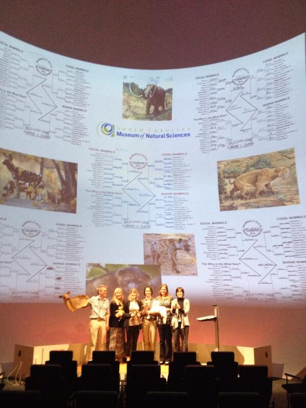 #2014mmm brackets from @naturalsciences Biodiversity lab on the big screen including @StephSchuttler @LisaKlMills http://t.co/gF6tq21a3K