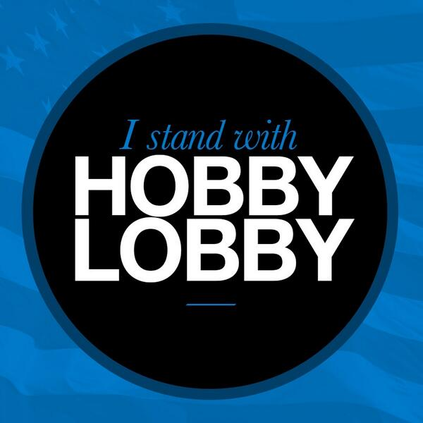 "I stand with my friends the Greens at Hobby Lobby in their court case for ""Religious Liberty."" RETWEET http://t.co/RaLtZzJPgB"