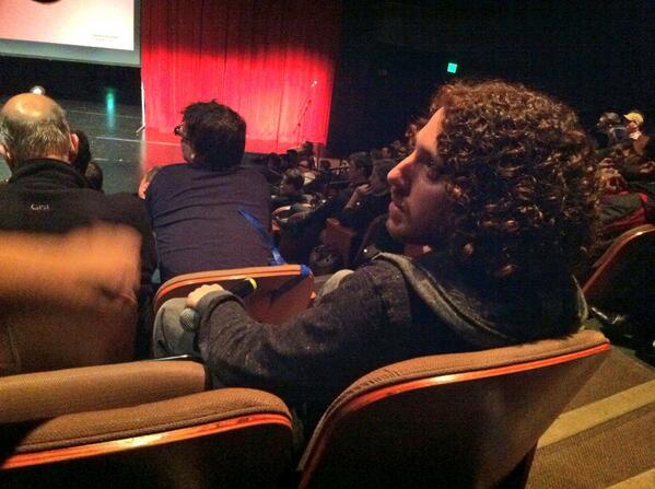 Chilling in the back with @RedRussak, founder an host of #seattletechmeetup #timekeeper http://t.co/IHFgAG6QLY