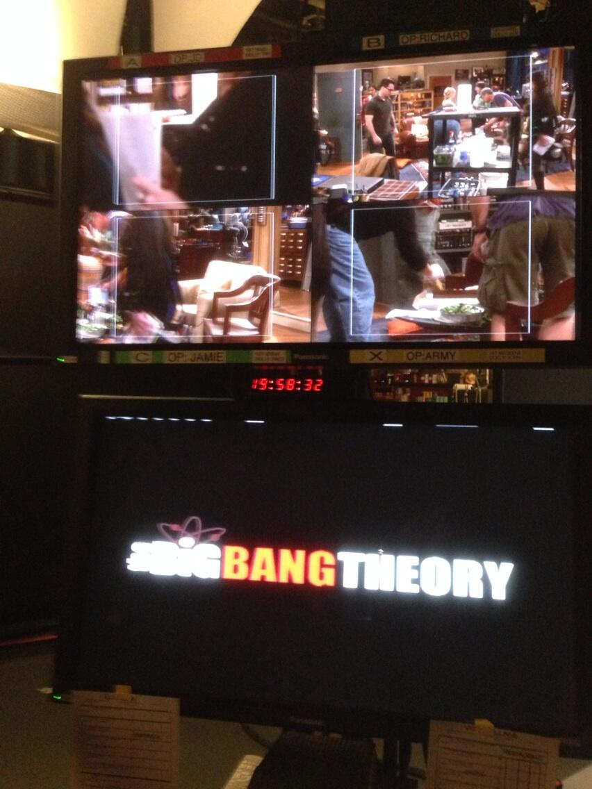 RT @billprady: We're shooting #BigBangTheory right now! http://t.co/QskUauEWjF