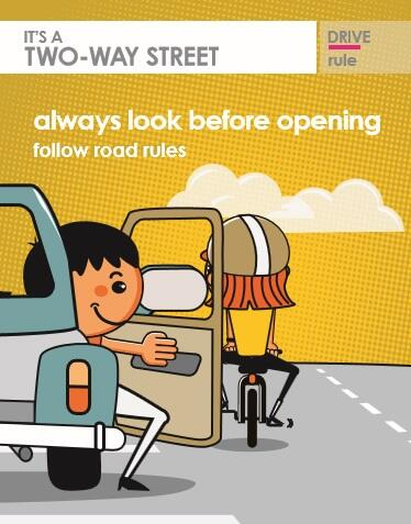 Help reduce dooring, get into the habit of opening the car door with your left hand http://t.co/0O27qJ3OA2 #2wayst http://t.co/Wd9RzCYipy