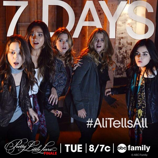 Get ready for the last episode cuz in 7 days #AliTellsAll @ABCFpll http://t.co/nPJLhzT2ir