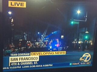 #SF @mayoredlee & fire chief news conf 7AM on #SFFire. u can see firefighters still dousing it http://t.co/lstCN0Erh5 http://t.co/IEh9RLw4ni