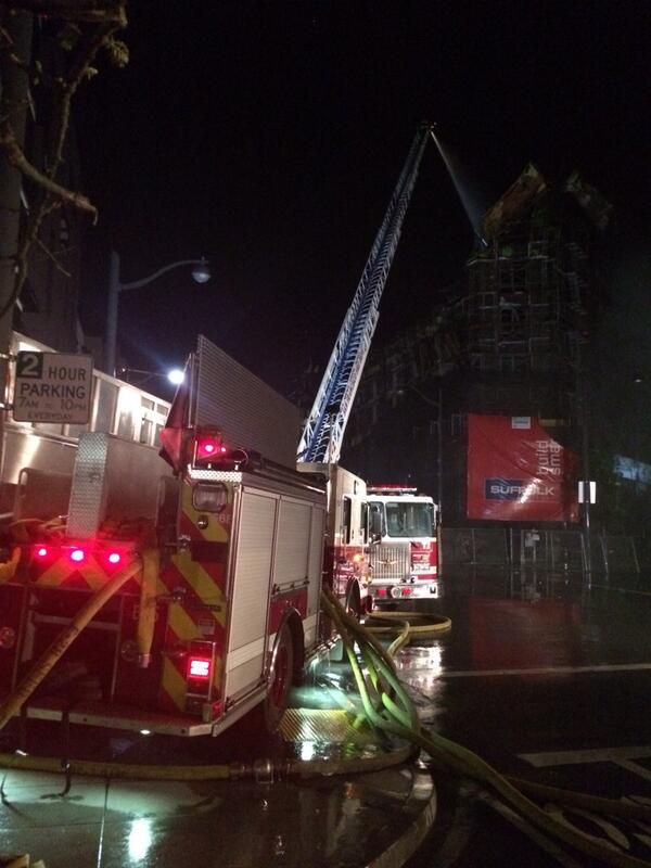 Crews battling hotspots at #ChinaBasinFire http://t.co/pznMFk49r4
