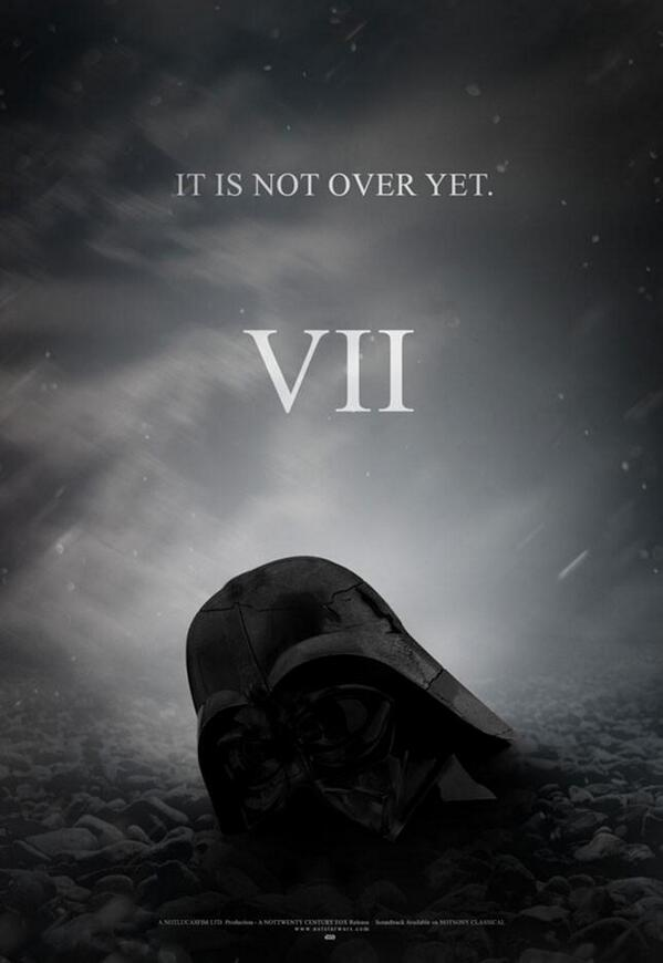 ¿Qué les parece este fan-made poster de STAR WARS: EPISODE VII? http://t.co/umCU76ZSlm
