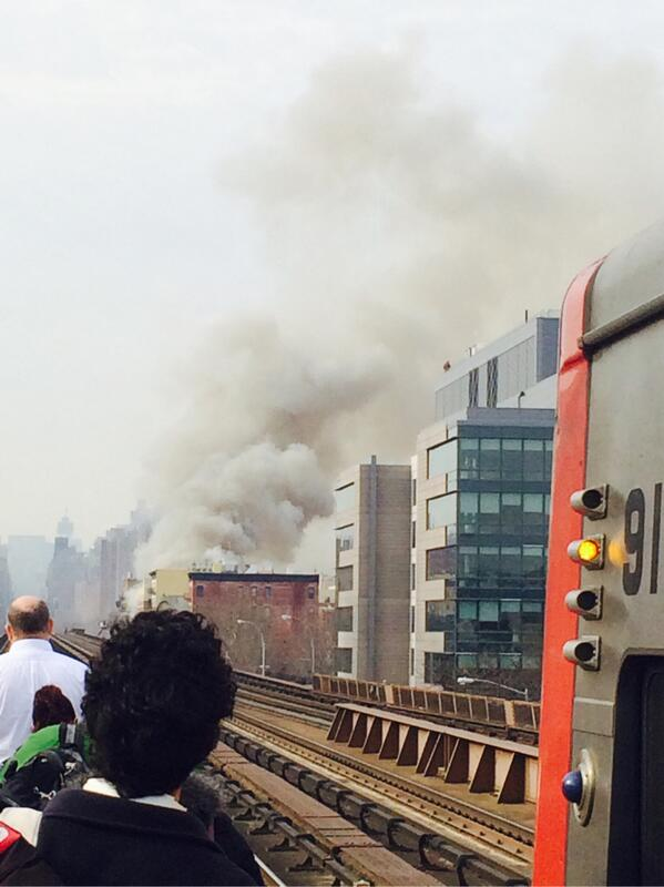 Some video of fire that has stopped @MetroNorth in and out of city. http://t.co/mPn7GMMC4f