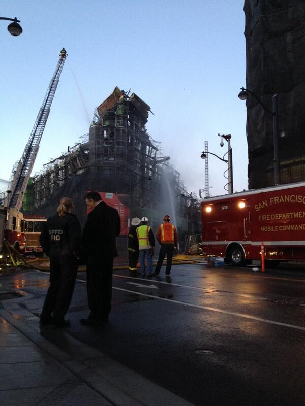 Deputy Chief Mark Gonzales surveys the damage as dawn breaks over the scene of the #MissionBayFire. http://t.co/hPbSKgwLqn