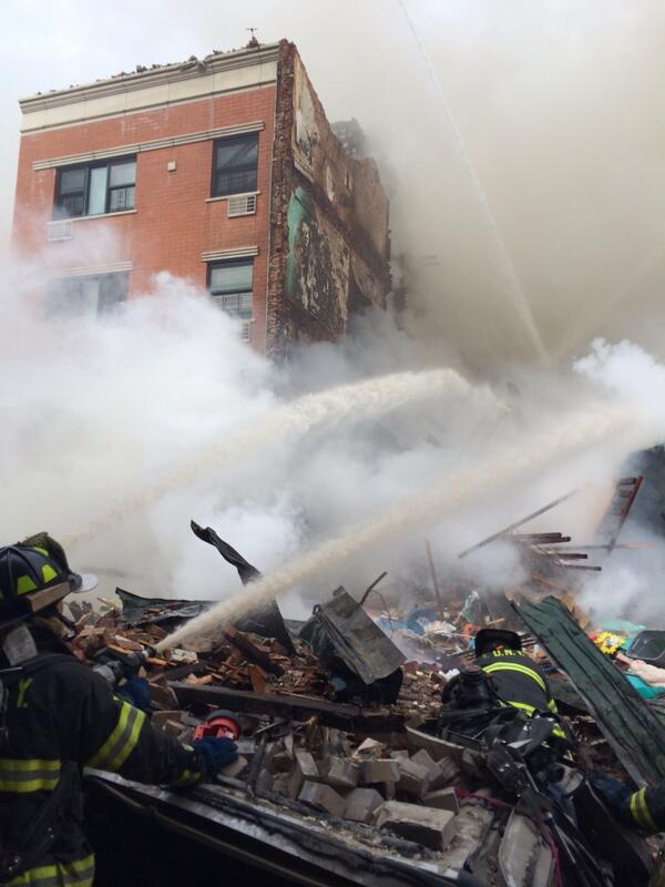 2nd Exclusive photo of scene of Harlem building collapse. http://t.co/Sb2bQ4rbnx