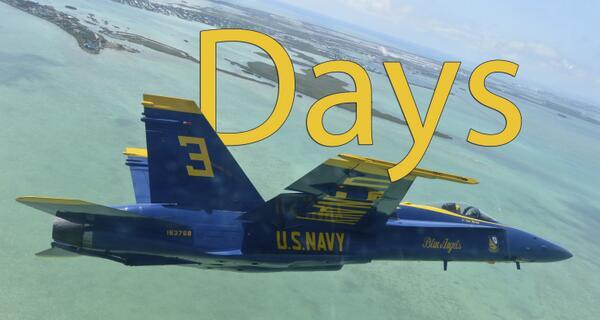 Three days until the @USNavy #BlueAngelsAreBack! http://t.co/VBWww0FeZe @BlueAngels