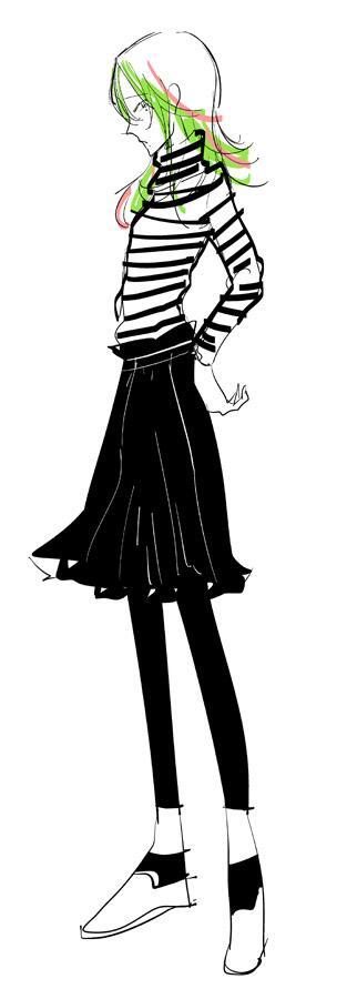 先輩がたしかこういう服着ててかわいかった~~私も巻ちゃんくらい細長かったらな~~!!!!横縞は鬼門だろ~~~