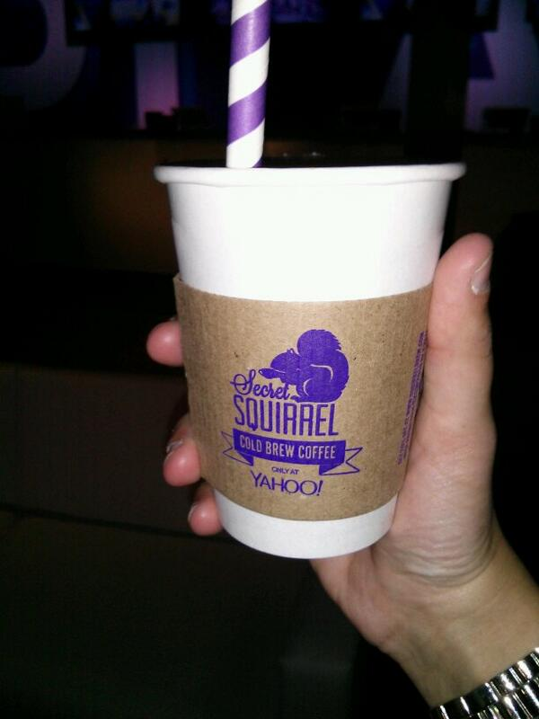 #yodel in the @Yahoo lounge. Got my nails done and had a #bushytail from @squirrelbrew ! So good & salt/milk rimmed! http://t.co/lcMNfiWbu6