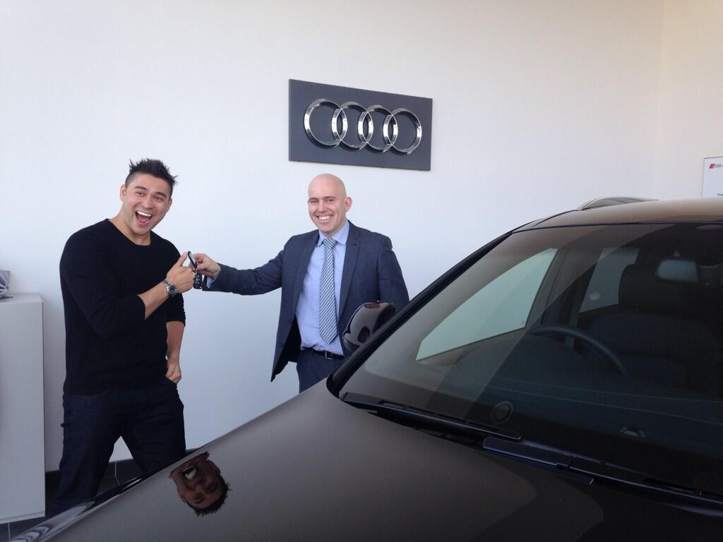 """@AudiGamble: @RavWilding @JardineAudi thanks again Rav http://t.co/jZnXal3spT""  I Look like a kid a Christmas in this picture!"