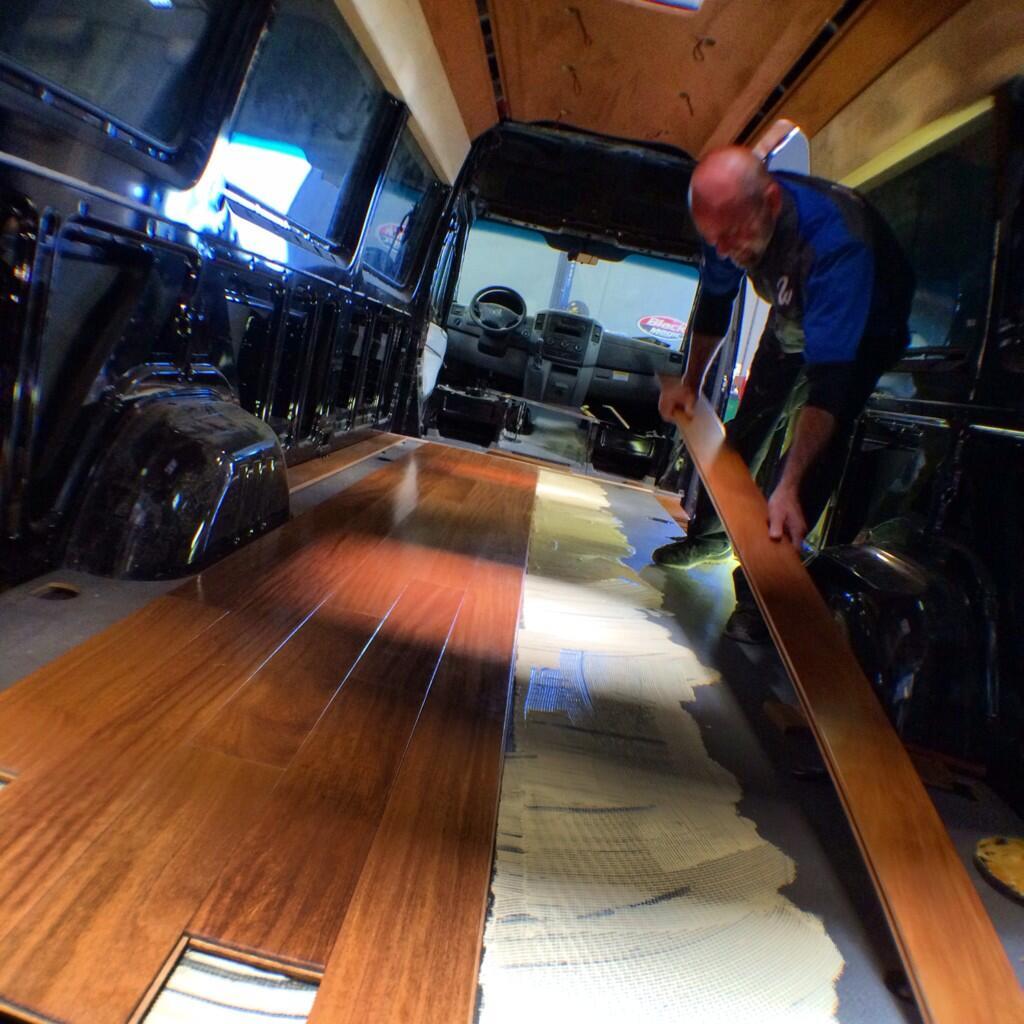 West coast customs on twitter installing a wood floor in for West coast floors