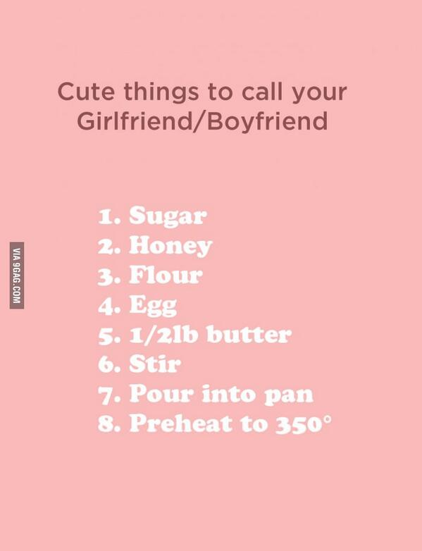 Cute things to call my girlfriend