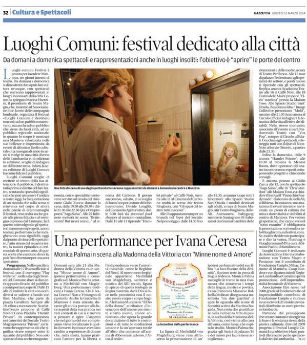 Buongiorno #Mantova. Ecco l'articolo di @gazzettamantova su #luoghicomuniMN con @EtreResidenze @NudoecrudoT http://t.co/iyWdWipzv1