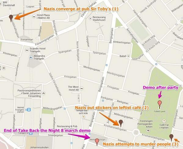 Kartbild över händelserna på Möllevången i lördags: (via @motkraft ) #KaempaShowan http://t.co/GhozdRTH9Q