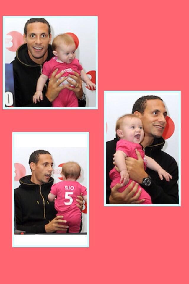 RT @katie5utd: @rioferdy5 @Siaany5 @anton_ferdinand happy 1st birthday to my baby girl kyla! luckiest baby getting cuddles with rio! http:/…