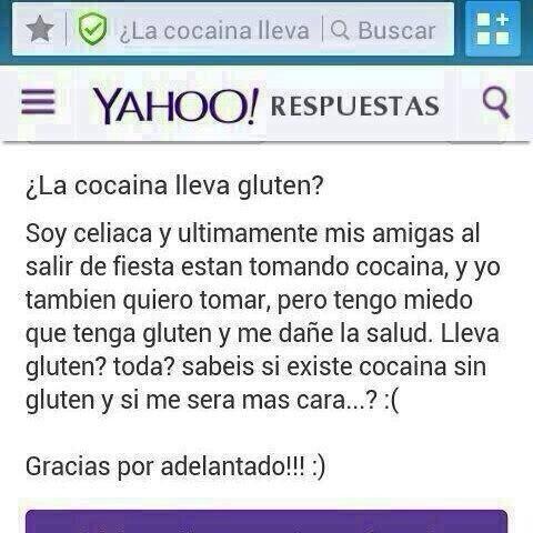Queridos amigos, ya me ha llegado el OjuRespu de 'si la Cocaína lleva Gluten'. No hace falta que me lo enviéis más XD http://t.co/e7hHYjHDnN