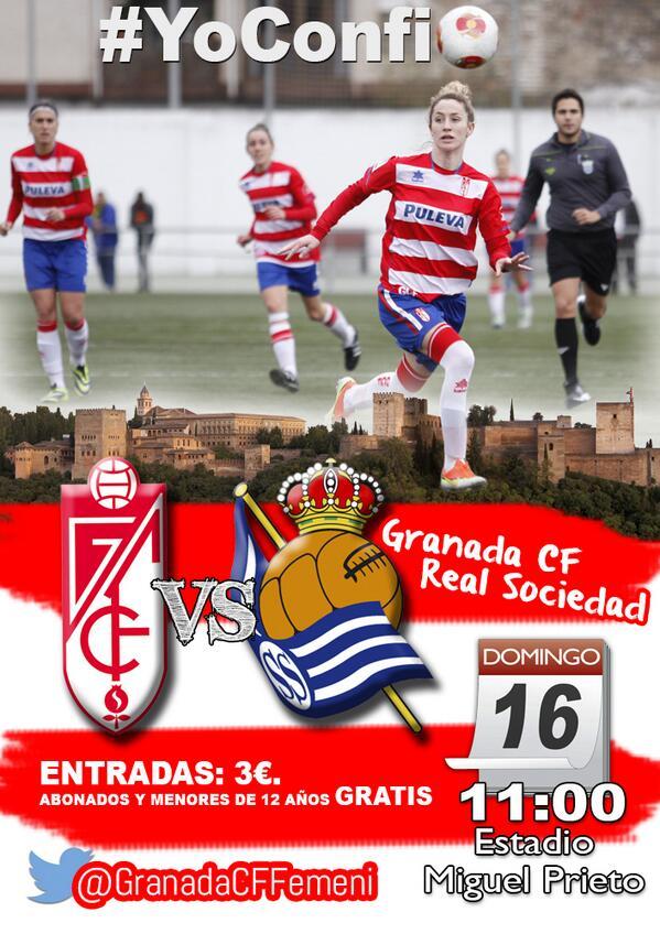 Granada cf femenino real sociedad domingo 11 00 for Real sociedad hipica de granada piscina
