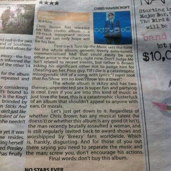 Excellent review of @chrisbrown 's new album - taken from @Jorarl - well done, Chris! http://t.co/LPoovYzJkR