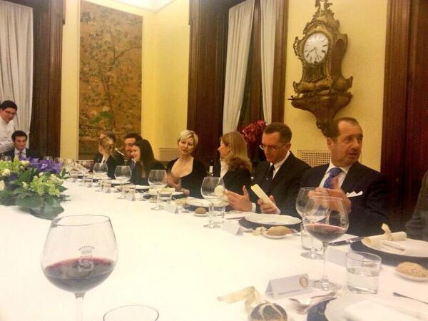 Thank you @villaspalletti gorgeous @dinner last night & for your wonderful hospitality! #SLH #Rome http://t.co/W53CfA9PZn