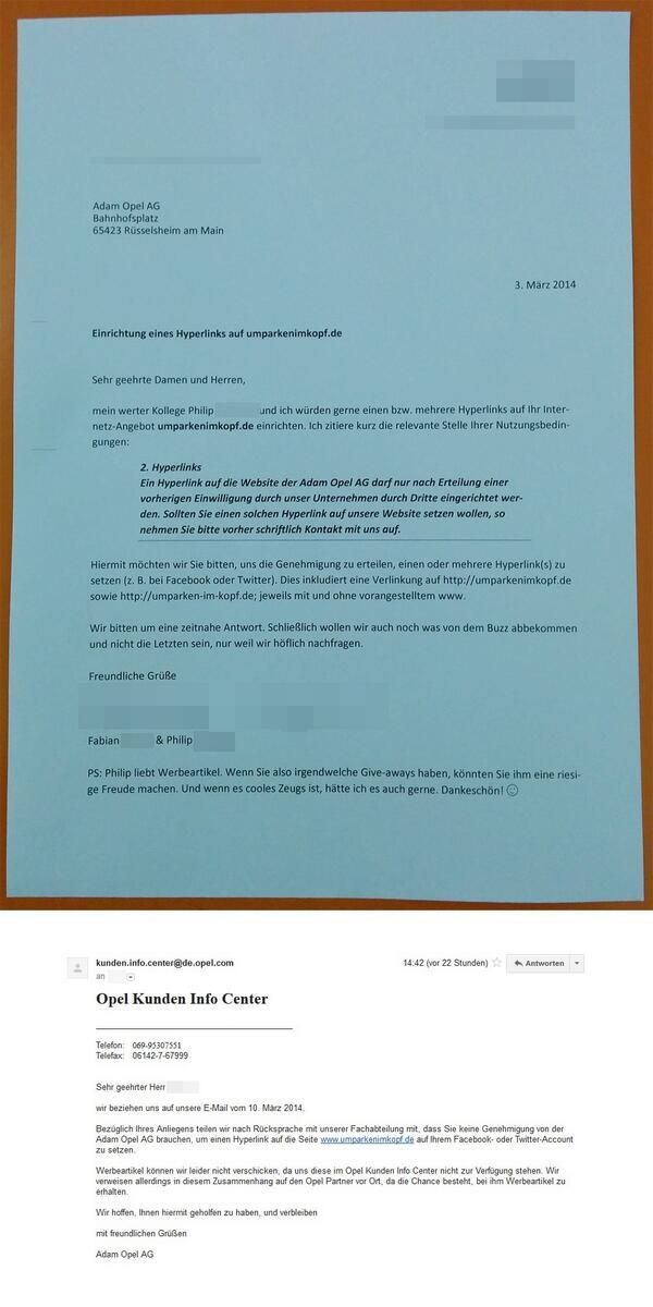 Wir haben bei Opel angefragt, ob wir auf ihre Seite verlinken dürfen. Steht so schließlich auf der Seite! http://t.co/XhM2zLKgPn