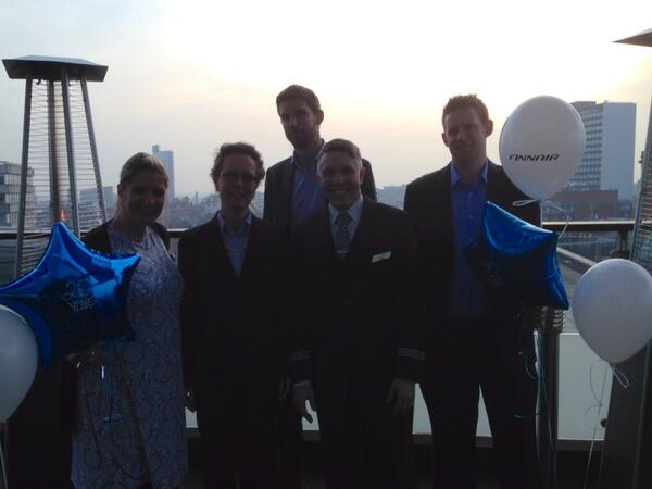 Celebrating 20 years in Manchester @finnair @manairport :-) http://t.co/pVQM9qNiwH