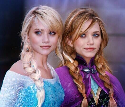 フルハウスのオルセン姉妹のアナとエルサが、かわいすぎる♡♡