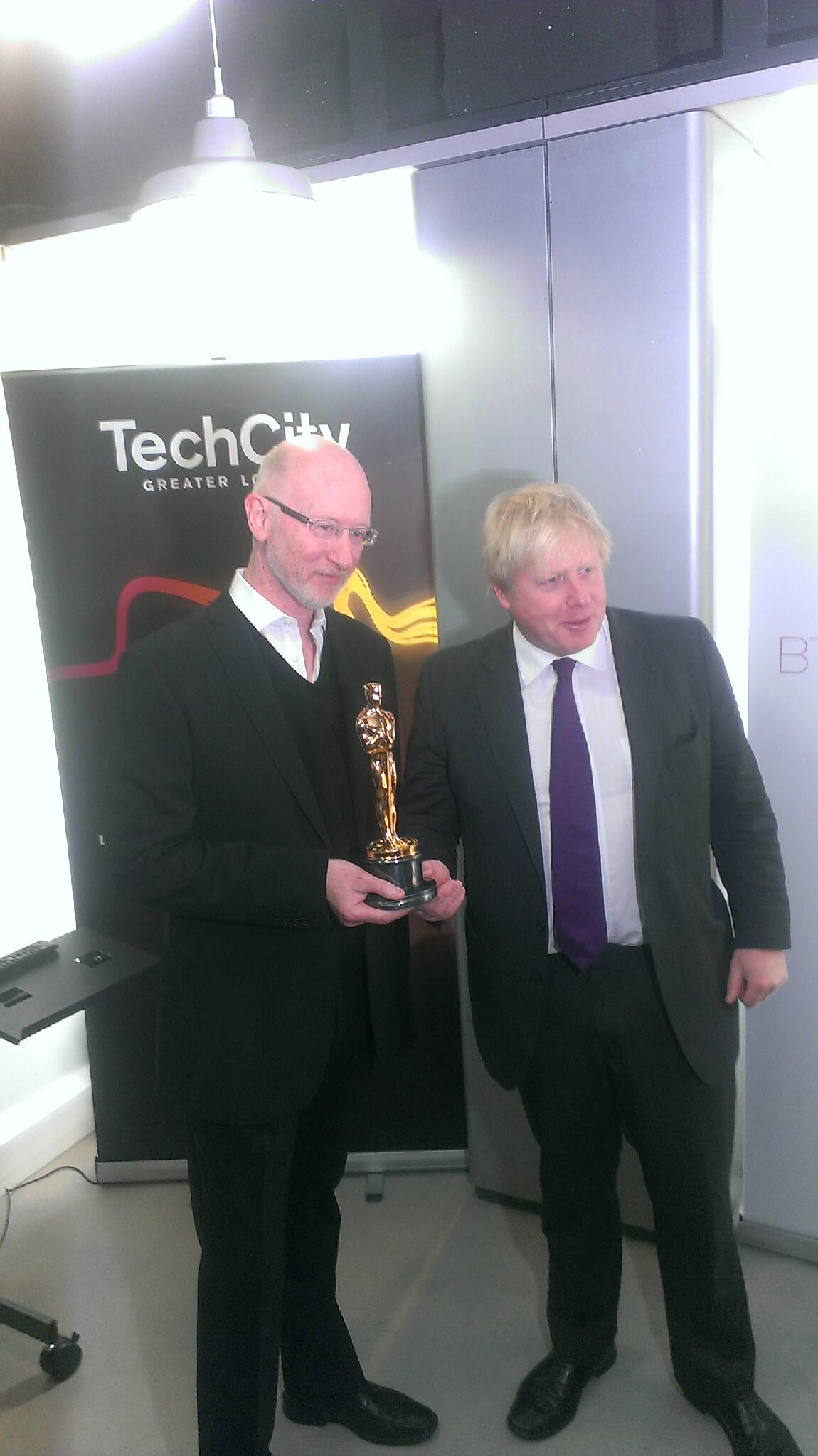 Great visit @TechHub Met #Oscar winning Will Sargent and launched my vision to make #London tech capital of the world http://t.co/VEU5xoOuqS