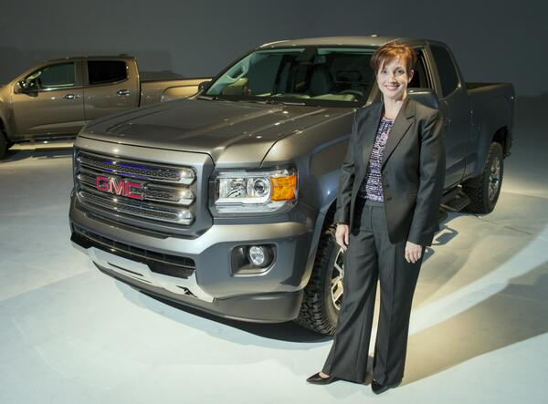 Meet the chief engineer for the 2015 GMC Canyon midsize truck @GM live tweeting her day at work #NPRWIT @AnitaBurke15 http://t.co/TxJdpPoEYI