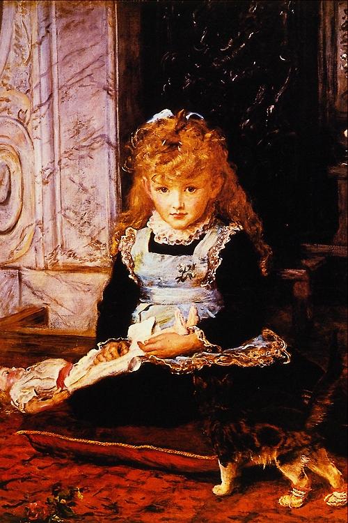 「長靴をはいた猫」制作年不明ジョン・エヴァレット・ミレイJohn Everett Millais, Puss in Boots