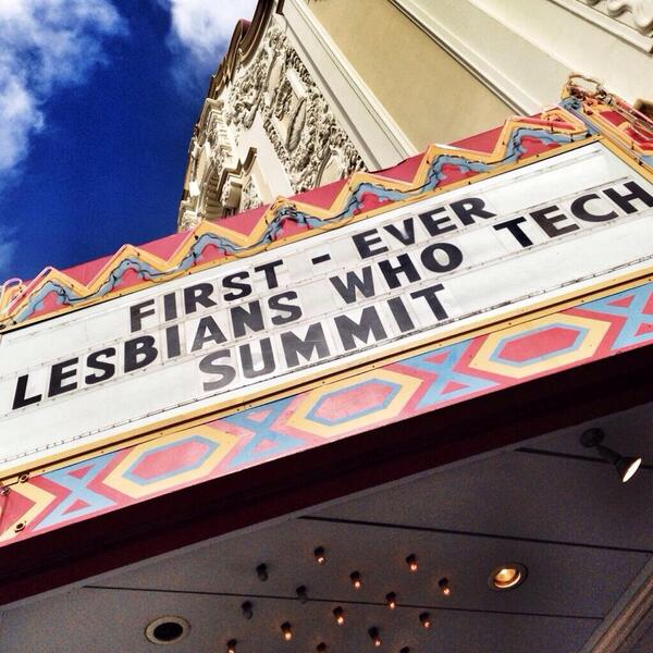 @TellMeMoreNPR @lesbiantech we had 800 queer women (and friends) in SF talking tech, gender & LGBT issues. #nprwit http://t.co/t7XuoPTWJ6