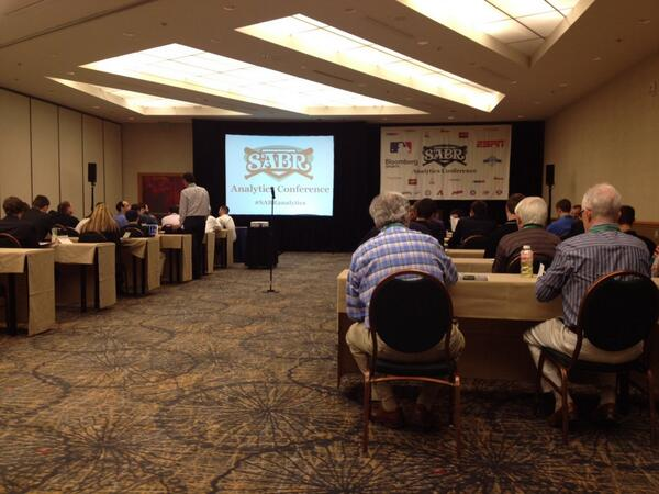 Waiting on the opening comments for the @sabr #SABRanalytics conference at the Hyatt http://t.co/BkOhVaNuii