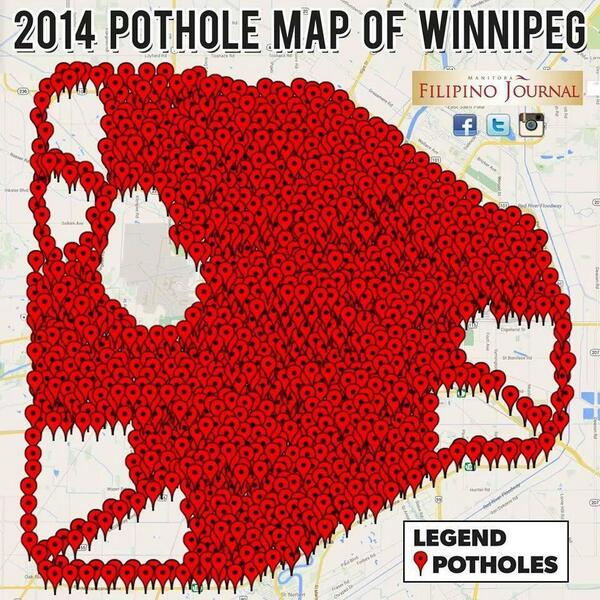Image result for pothole winnipeg