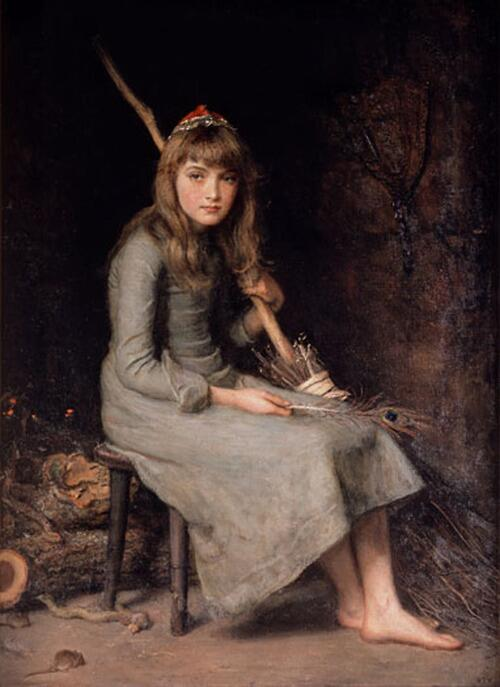 「シンデレラ」制作年不明ジョン・エヴァレット・ミレイJohn Everett Millais, Cinderella