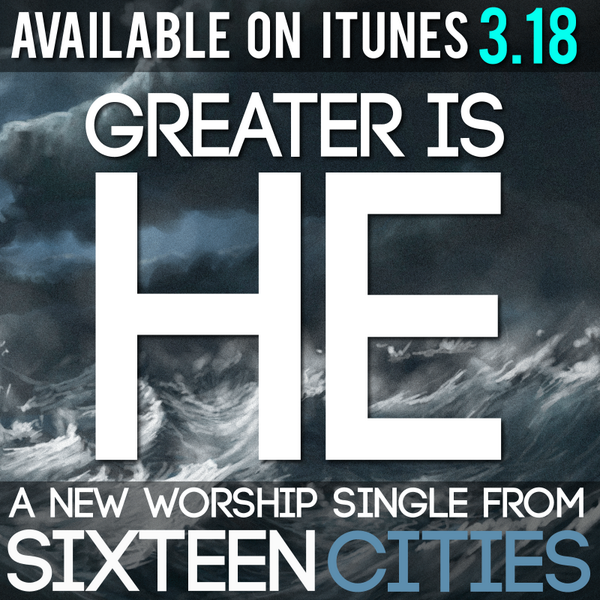 "Excited to announce our NEW WORSHIP SINGLE ""Greater Is He"" releases online next Tuesday 3/18! Help spread the word! http://t.co/2s5ohfx0JG"