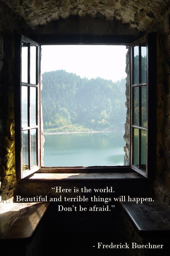 Frederick buechner on twitter here is the world for Window quoter