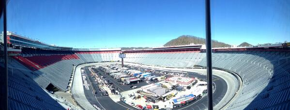 Beautiful day at Bristol! Seats for 160,000 of my close friends. @bmsupdates #itsBristolBaby #nascar http://t.co/dSGYa2vrpm