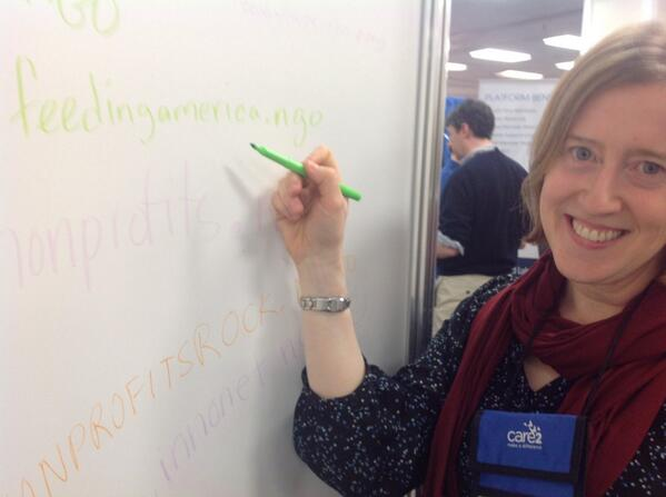#14NTC Write your preferred .NGO domain at the @PIRegistry booth like @FeedingAmerica and get a free shirt! http://t.co/vYQJzeYbSy