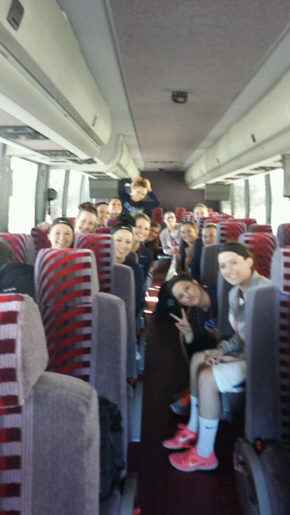 Bees on their way to the Tyson Events Center!!  Game time!!!  #QBeeBall #buzzbuzz http://t.co/6TGiQvSgjK