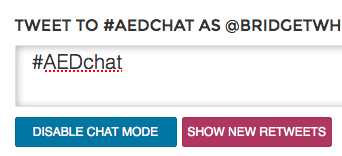 ".@twubs - great feature - you can enable ""chat mode"" and also turn off ""retweets"" #AEDchat http://t.co/5S2tXh7MTg"